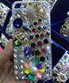 Bling Swarovski crystal cases Peacock diamonds cover for iPhone 7S - White