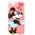 Brand Mickey Mouse Covers Plastic Back Cases Cartoon Heart for iPhone 7S - Pink