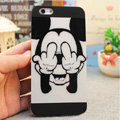 Brand Mickey Mouse Covers Plastic Matte Back Cases Cartoon Cute for iPhone 7S - Black