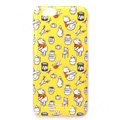 Brand Winnie the Pooh Covers Plastic Back Cases Cartoon Cute for iPhone 7S - Yellow