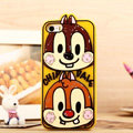 Cartoon Chip Dale Cover Disney Graffiti Silicone Cases Skin for iPhone 7S - Yellow