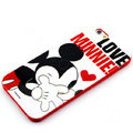 Cartoon Cover Disney Mickey Mouse Silicone Cases Skin for iPhone 7S - Red