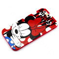Cartoon Cover Disney Minnie Mouse Silicone Cases Skin for iPhone 7S - Red
