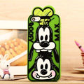 Cartoon Goofy Cover Disney Graffiti Silicone Cases Skin for iPhone 7S - Green