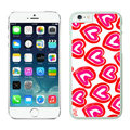 Heart Coach Covers Hard Back Cases Protective Shell Skin for iPhone 7S Red - White