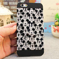 Hot Mickey Mouse Covers Plastic Matte Back Cases Cartoon Cute for iPhone 7S - Black