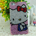 Luxury Bling Hard Covers Hello kitty diamond Crystal Cases Skin for iPhone 7S - Pink