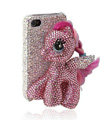 Swarovski Bling crystal Cases Pony Horse Luxury diamond covers for iPhone 7S - Pink