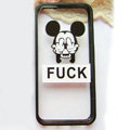 TPU Cover Disney Mickey Mouse Silicone Case Fuck for iPhone 7S - Transparent