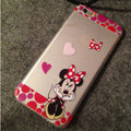 TPU Cover Disney Minnie Mouse Silicone Case Bowknot for iPhone 7S - Transparent