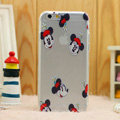 Transparent Cover Disney Mickey Mouse Silicone Cases TPU for iPhone 7S - White