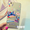 Transparent Cover Disney Stitch Silicone Cases Cute for iPhone 7S - White