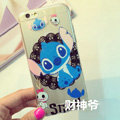 Transparent Cover Disney Stitch Silicone Shell Cute for iPhone 7S - White
