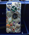 Bling Swarovski crystal cases Saturn diamond cover for iPhone 8 - Green