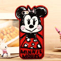 Cartoon Minnie Mouse Cover Disney Graffiti Silicone Cases Skin for iPhone 8 - Red