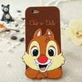 Cute Cartoon Cover Disney Dale Silicone Cases Skin for iPhone 8 - Brown