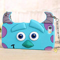 Cute Cover Cartoon Sulley Silicone Cases Chain for iPhone 8 - Blue