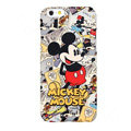 Genuine Cute Cartoon Mickey Mouse Covers Plastic Back Cases Matte for iPhone 8 - Red