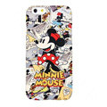 Genuine Cute Cartoon Minnie Mouse Covers Plastic Back Cases Matte for iPhone 8 - Red