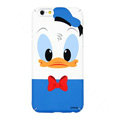 Genuine Cute Donald duck Covers Plastic Back Cases Cartoon Matte for iPhone 8 - Blue