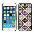 Quality Coach Covers Hard Back Cases Protective Shell Skin for iPhone 8 Flower - Black