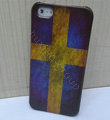 Retro Sweden flag Hard Back Cases Covers Skin for iPhone 8