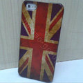 Retro United Kingdom of Britain flag Hard Back Cases Covers Skin for iPhone 8