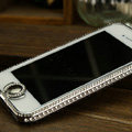 Swarovski Bling Metal Bumper Frame Case Cover for iPhone 8 - Silver