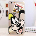 TPU Cover Disney Goofy Silicone Case Minnie for iPhone 8 - Transparent