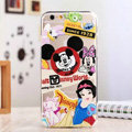 TPU Cover Disney Mickey Mouse Silicone Case Minnie for iPhone 8 - Transparent
