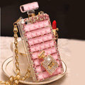 Unique Swarovski Bling Rhinestone Case Perfume Bottle Cover for iPhone 8 - Pink