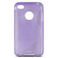 s-mak translucent double color cases covers for iPhone 8 - Purple