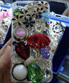 Bling Swarovski crystal cases Ballet girl Bowknot diamond cover for iPhone 8 Plus - Red
