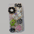 Bling Swarovski crystal cases Pumpkin Trojan diamond cover for iPhone 8 Plus - Green