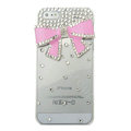 Bowknot diamond Crystal Cases Bling Hard Covers for iPhone 8 Plus - pink