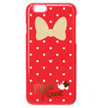 Brand Minnie Mouse Covers Plastic Back Cases Cartoon Bowknot for iPhone 8 Plus - Red