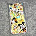 Cartoon Mickey Mouse Covers Hard Back Cases Disney Printing Shell for iPhone 8 Plus - Yellow