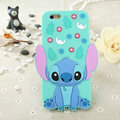 Cute Cartoon Cover Disney Stitch Silicone Cases Skin for iPhone 8 Plus - Blue