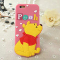 Cute Cartoon Cover Disney Winnie the Pooh Silicone Cases Skin for iPhone 8 Plus - Pink
