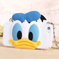 Cute Cover Cartoon Donald Duck Silicone Cases Chain for iPhone 8 Plus - Blue