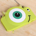 Cute Cover Cartoon Mike Wazowski Silicone Cases Chain for iPhone 8 Plus - Green