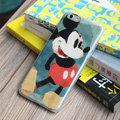 Cute Mickey Mouse Covers Plastic Matte Back Cases Cartoon Painting for iPhone 8 Plus - Blue