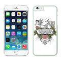 Floral Coach Covers Hard Back Cases Protective Shell Skin for iPhone 8 Plus Skull - White