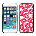 Heart Coach Covers Hard Back Cases Protective Shell Skin for iPhone 8 Plus Red - Black