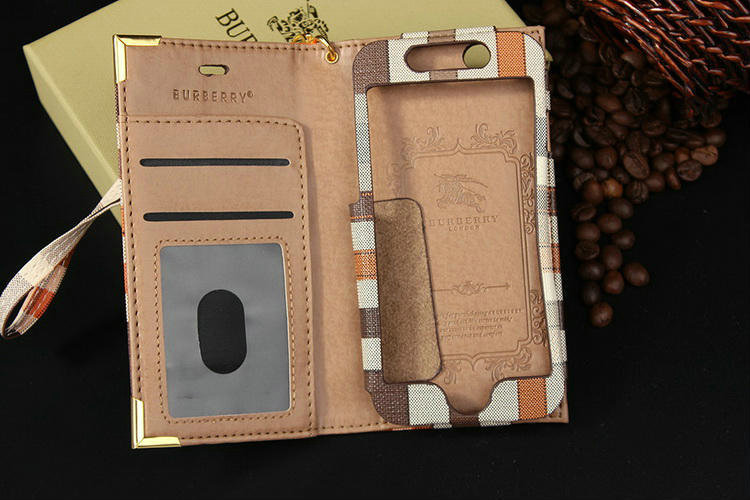 Burberry Leather Phone Case