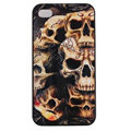 Skull Hard Back Cases Covers Skin for iPhone 8 Plus - Black EB005