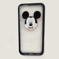 TPU Cover Disney Mickey Mouse Head Transparen Silicone Case for iPhone 8 Plus - Black