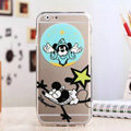 TPU Cover Disney Mickey Mouse Silicone Case Shell for iPhone 8 Plus - Transparent