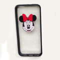 TPU Cover Disney Minnie Mouse Head Silicone Case Skin for iPhone 8 Plus - Black