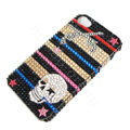 Bling Swarovski crystal cases Skull diamond covers for iPhone 7S Plus - Black